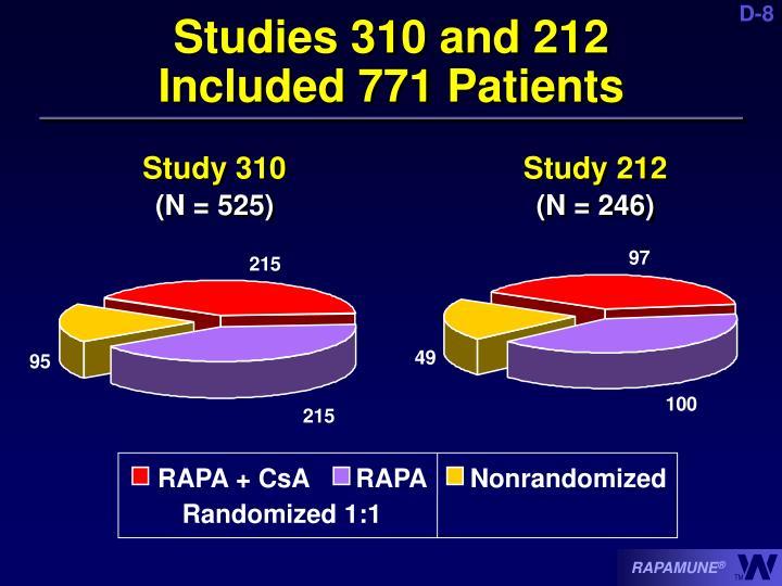 Studies 310 and 212