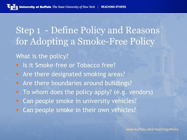 Tobacco Use and Secondhand Smoke Exposure: Smoke-Free Policies