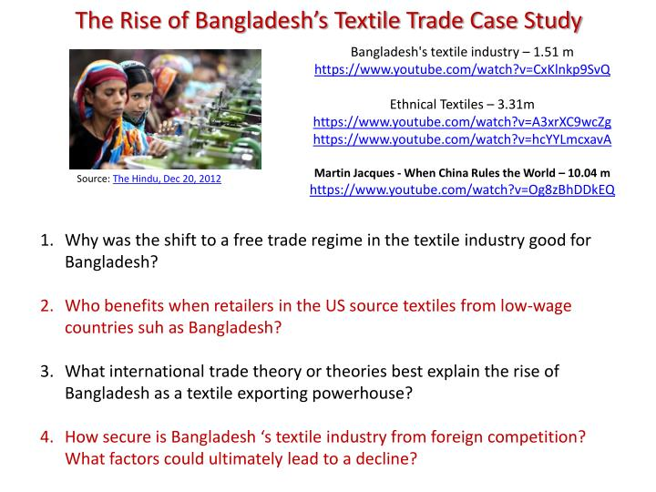 The Rise of Bangladesh's Textile Trade Case Study