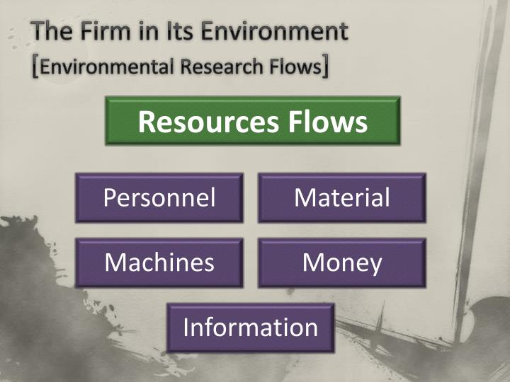 The firm in its environment environmental research flows
