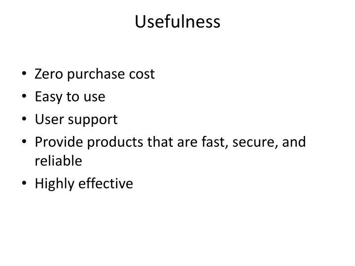 Usefulness