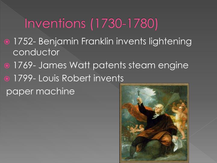 Inventions (1730-1780)