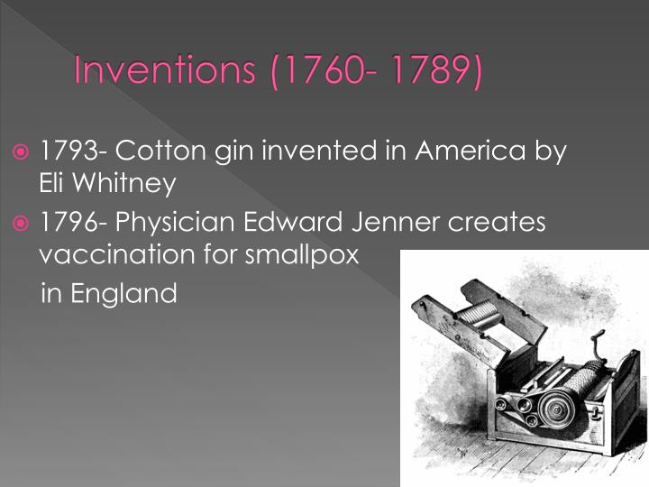 Inventions (1760- 1789)