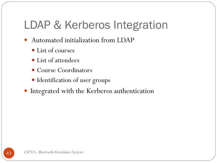 LDAP & Kerberos Integration