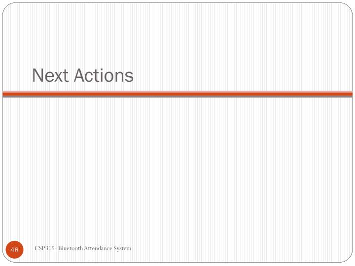 Next Actions