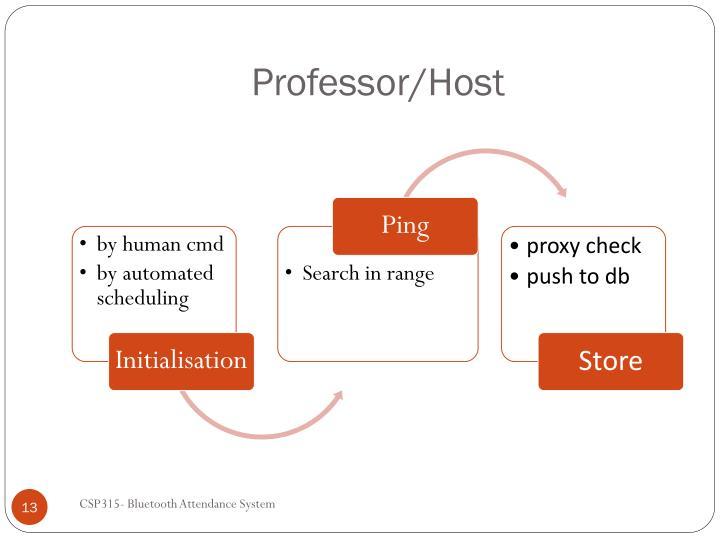 Professor/Host