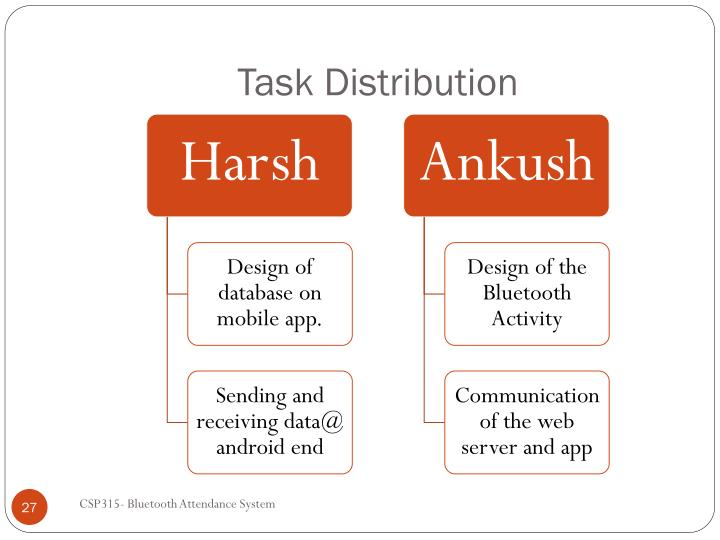 Task Distribution