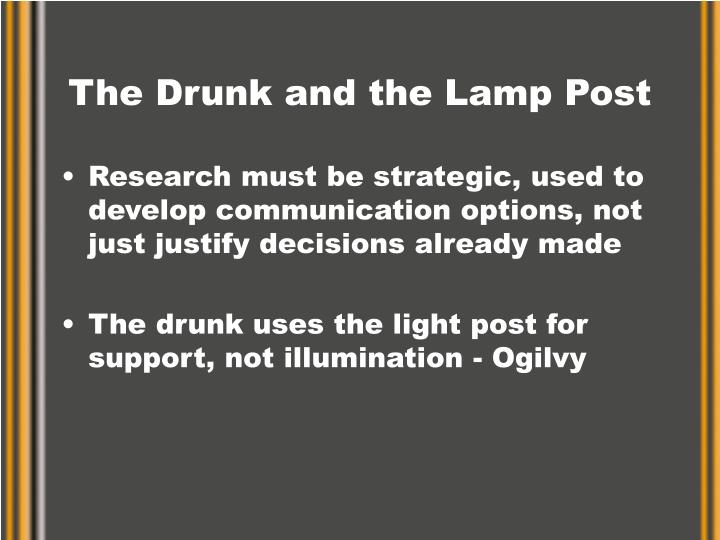 The Drunk and the Lamp Post