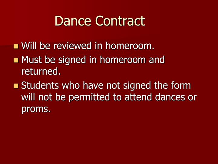 Dance Contract