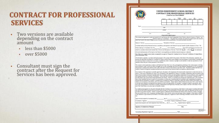 CONTRACT FOR PROFESSIONAL