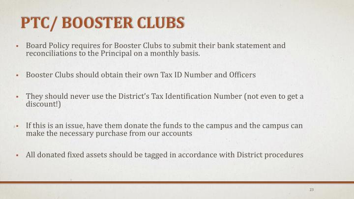 PTC/ Booster Clubs