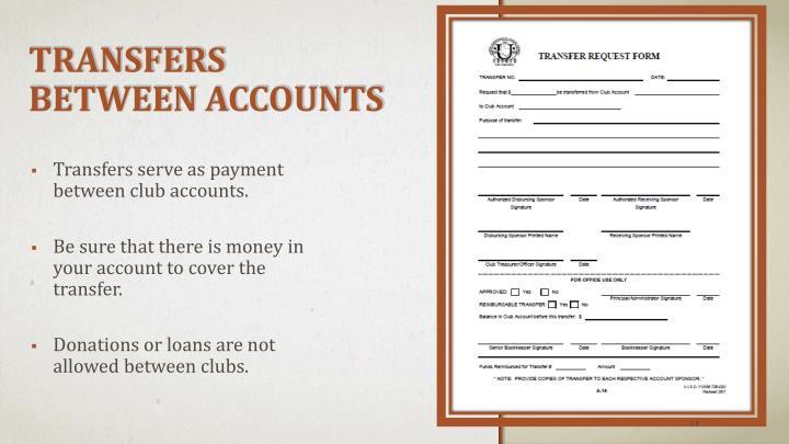Transfers Between Accounts