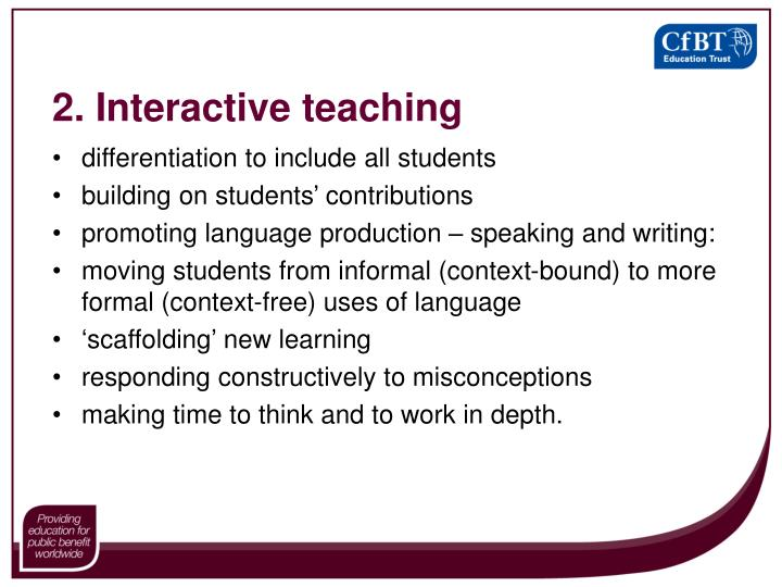2. Interactive teaching