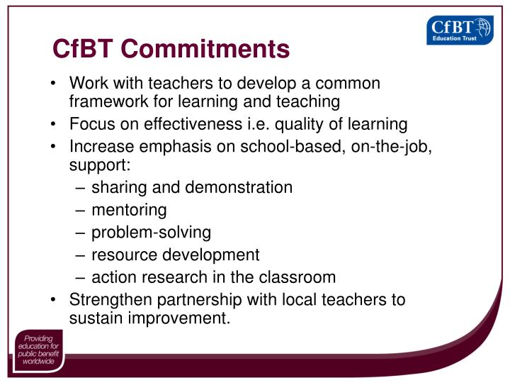 CfBT Commitments