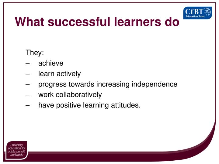 What successful learners do