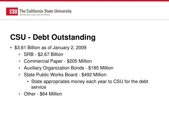 CSU - Debt Outstanding