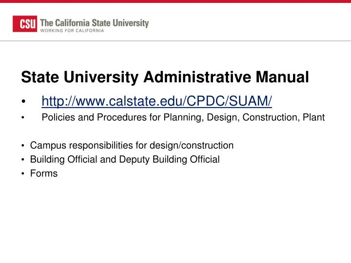 State University Administrative Manual