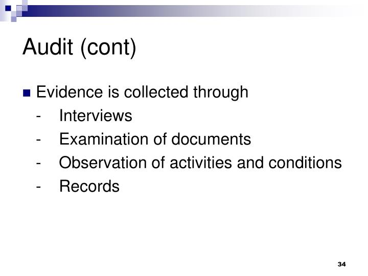 Audit (cont)