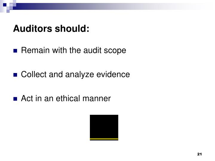 Auditors should: