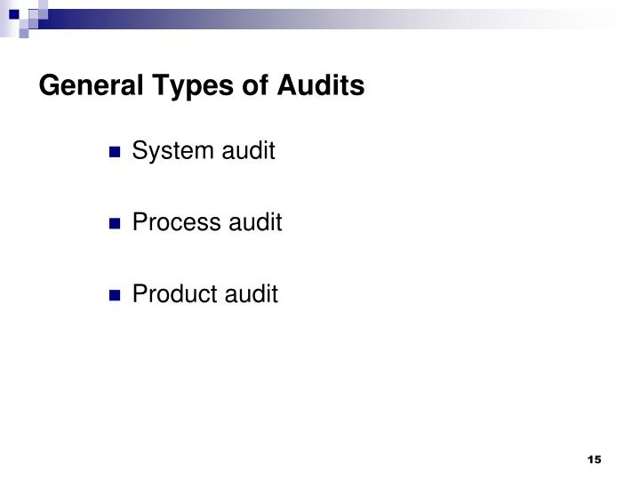 General Types of Audits