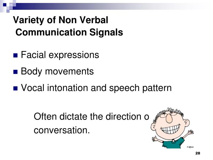 Variety of Non Verbal