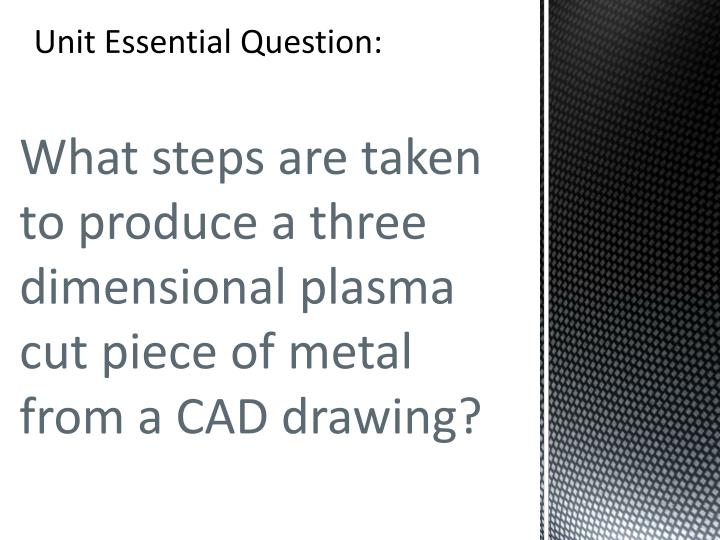 Unit Essential Question: