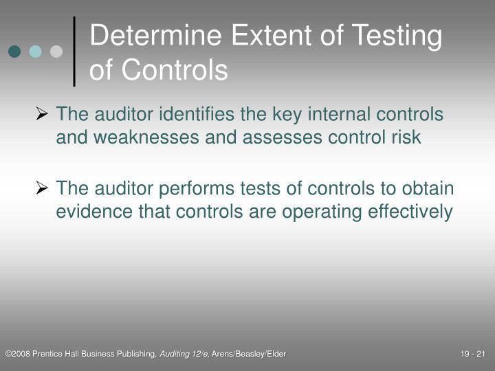 Determine Extent of Testing