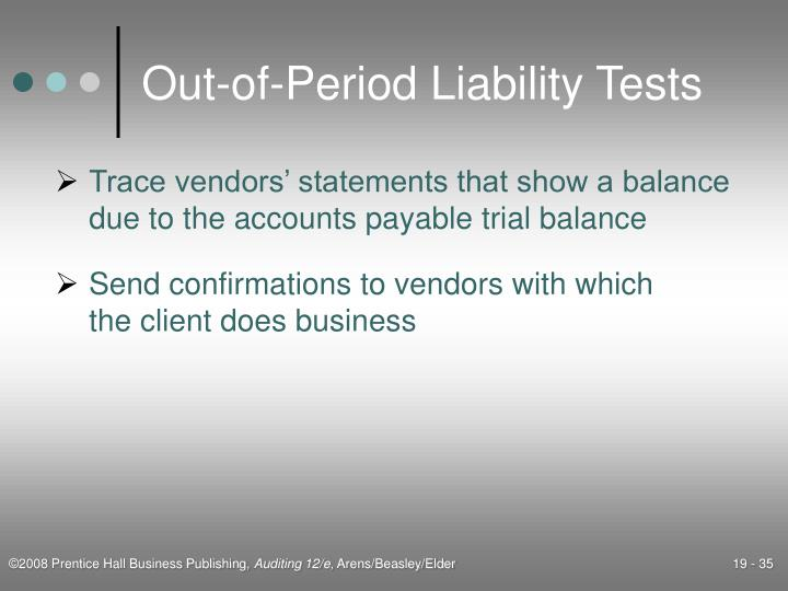 Out-of-Period Liability Tests
