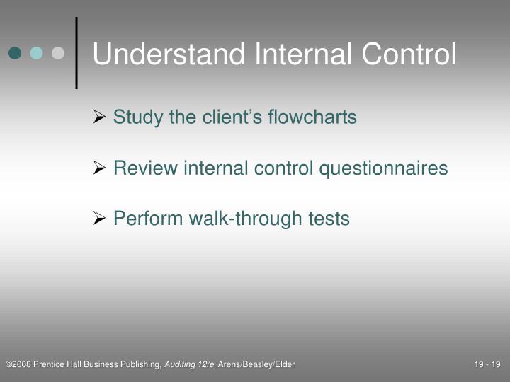 Understand Internal Control