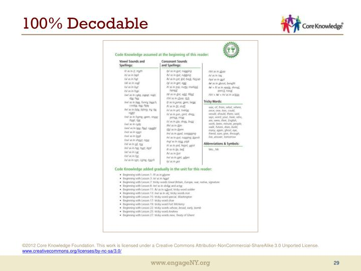 100% Decodable