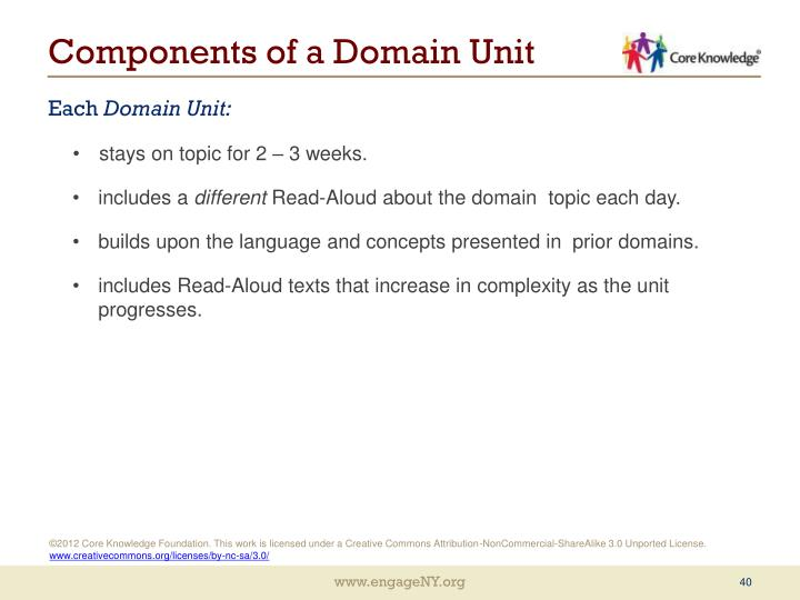 Components of a Domain Unit