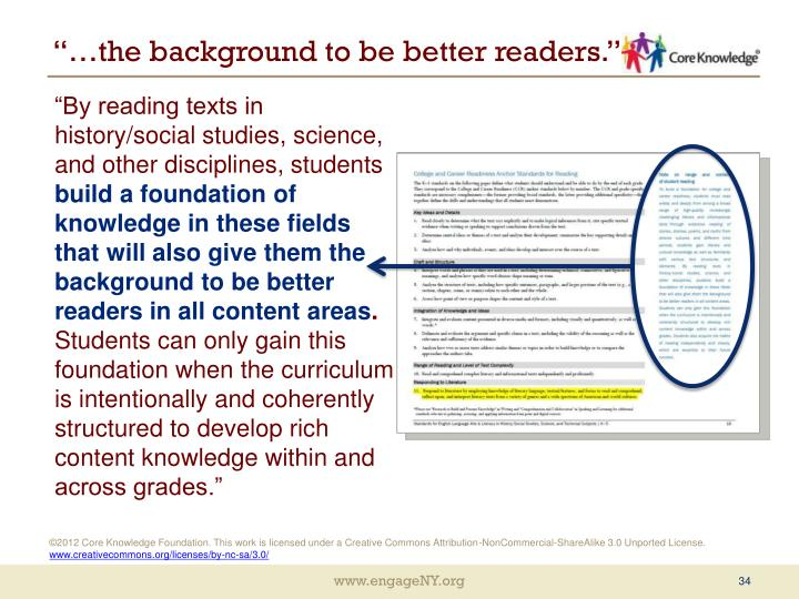 """…the background to be better readers."""