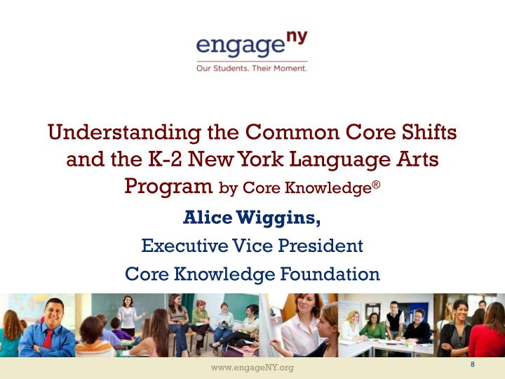 Understanding the common core shifts and the k 2 new york language arts program by core knowledge