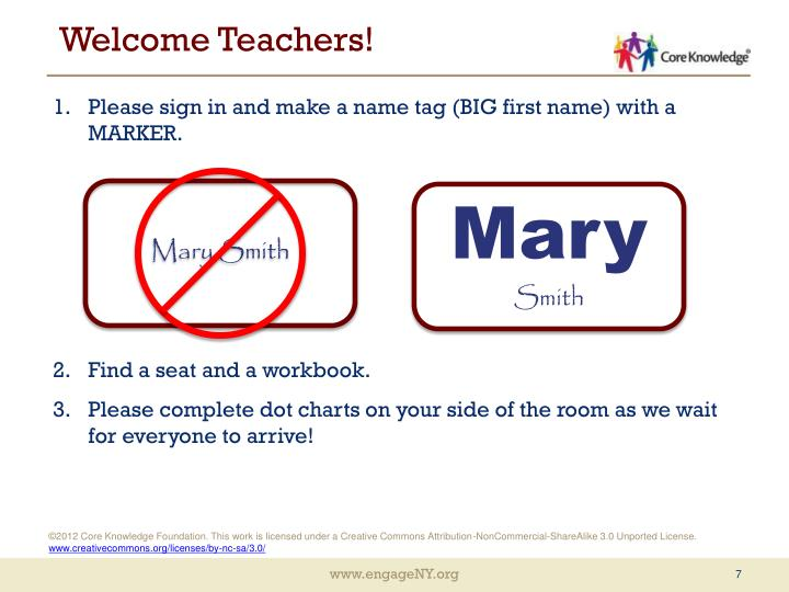 Welcome teachers