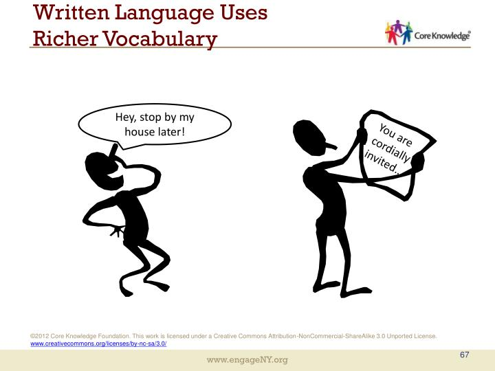 Written Language Uses