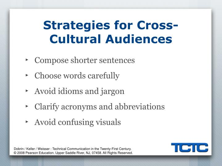 Strategies for Cross-Cultural Audiences