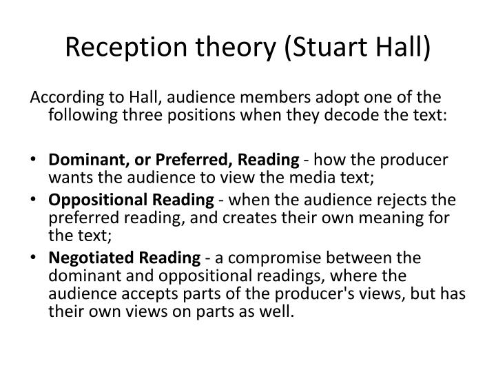 Reception theory stuart hall