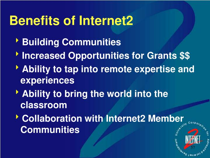 Benefits of Internet2