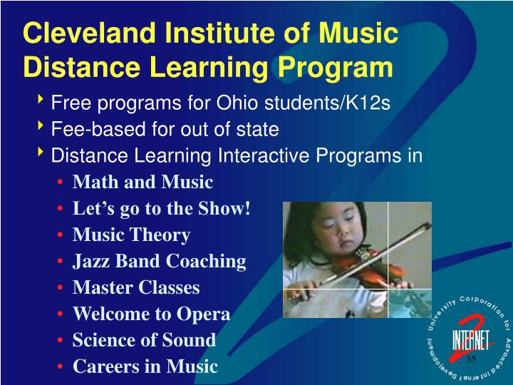 Cleveland Institute of Music Distance Learning Program