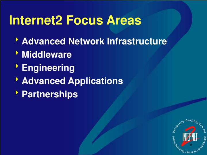 Internet2 Focus Areas
