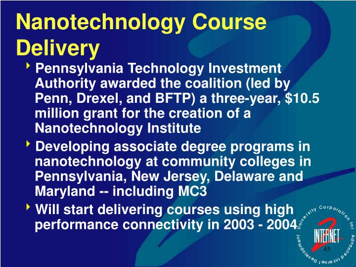 Nanotechnology Course Delivery