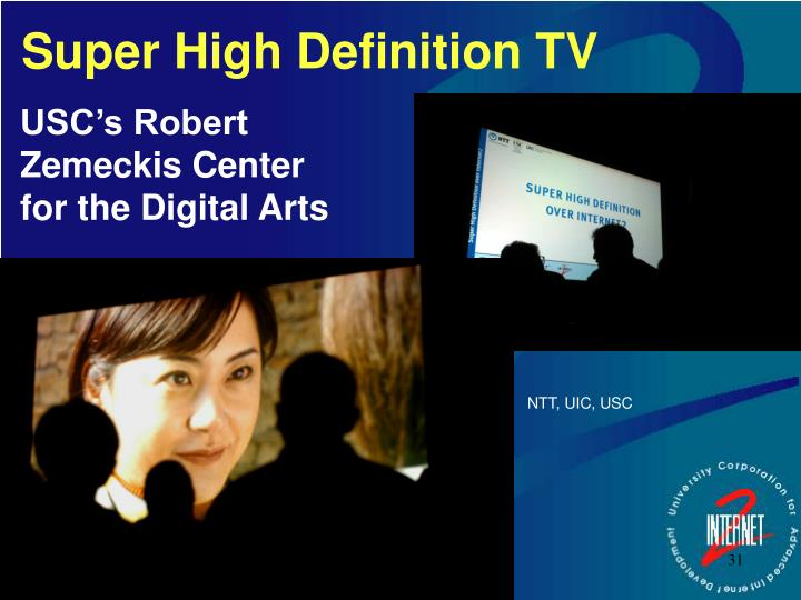 Super High Definition TV