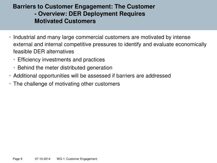 Barriers to Customer Engagement: The Customer