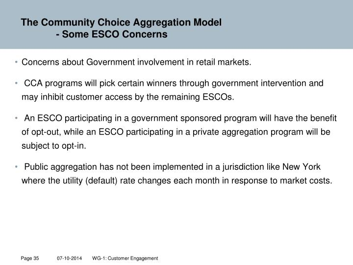 The Community Choice Aggregation Model