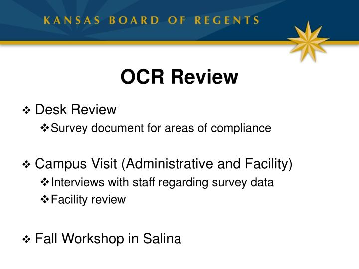 OCR Review