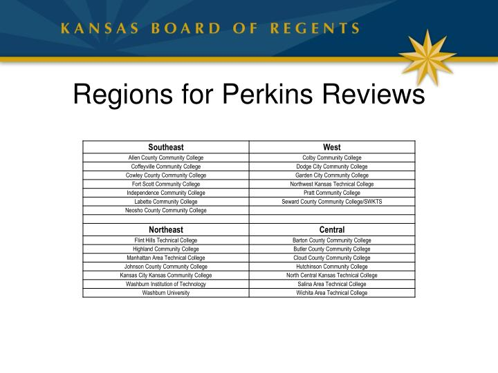 Regions for Perkins Reviews