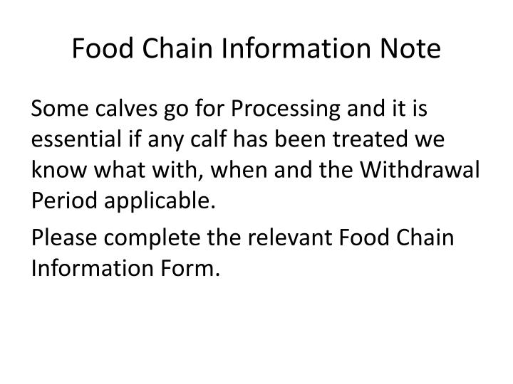 Food Chain Information Note