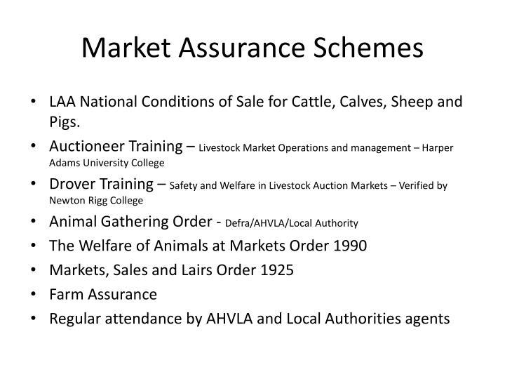 Market Assurance Schemes