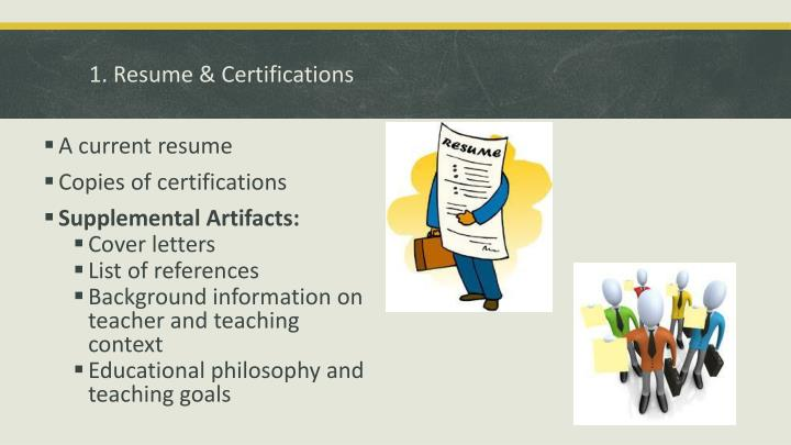 1. Resume & Certifications