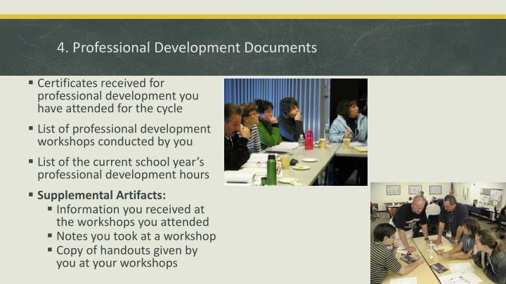 4. Professional Development Documents